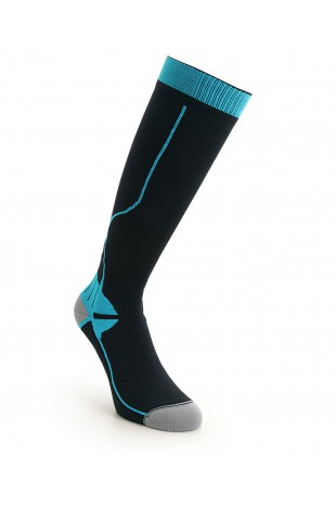 Compression Long Sock Blue